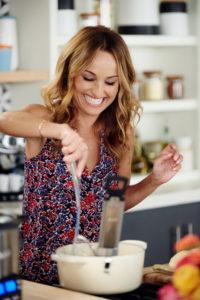 Host Giada de Laurentiis shows guests how to make Cheater Churros, as seen on Food Network's Giada Entertains, Season 1.