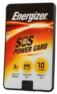 סוללת גיבוי לטלפון הנייד בגודל כרטיס אשראי- אנרג'ייזר SOS power card